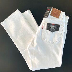 BRAND NEW Levi's 501 original white jeans size 26